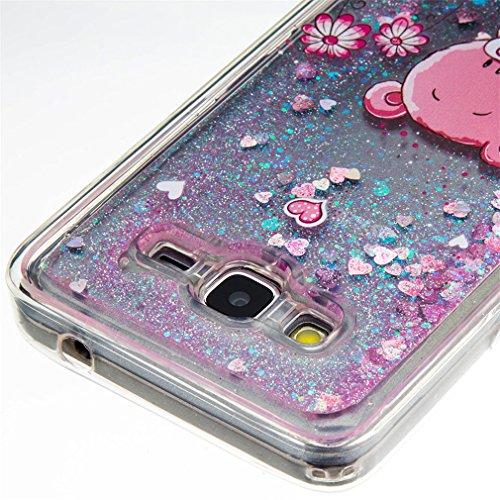 A9H Funda Transparente Dynamic Liquid Glitter Color Paillette Sand Quicksand arena movediza Star Back Cover Case para Galaxy Grand Prime SM-G530 shell -14HUA 10HUA