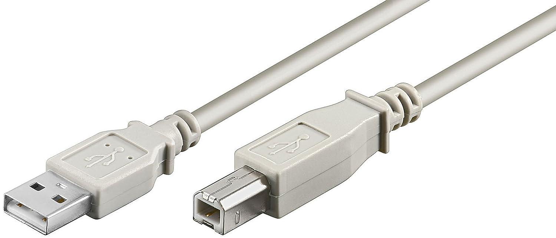 USB 2.0 A/B Kabel grau 3m: Amazon.de: Elektronik