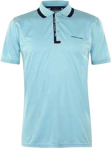 Pierre Cardin Hombre Fine Pique Camisa Polo Azul XL: Amazon ...