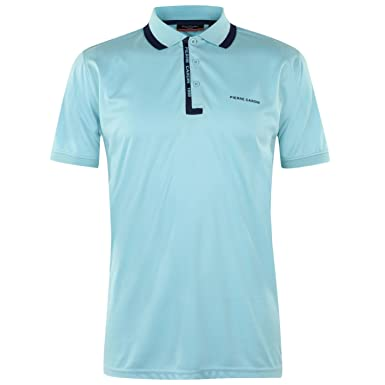 Pierre Cardin Hombre Fine Pique Camisa Polo Azul XL: Amazon.es ...
