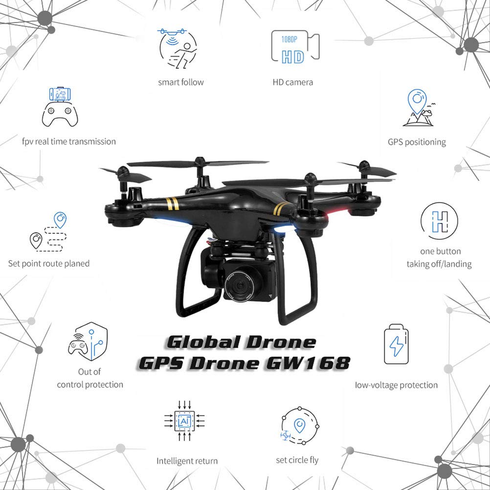 YANGSANJIN Drones con Camara a Aterrizaje 1080P Oferta GPS Sigueme ...
