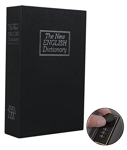 Langtor Caja Fuerte para Libros con Cerradura de Combinación, Caja Fuerte Portátil, Ideal para