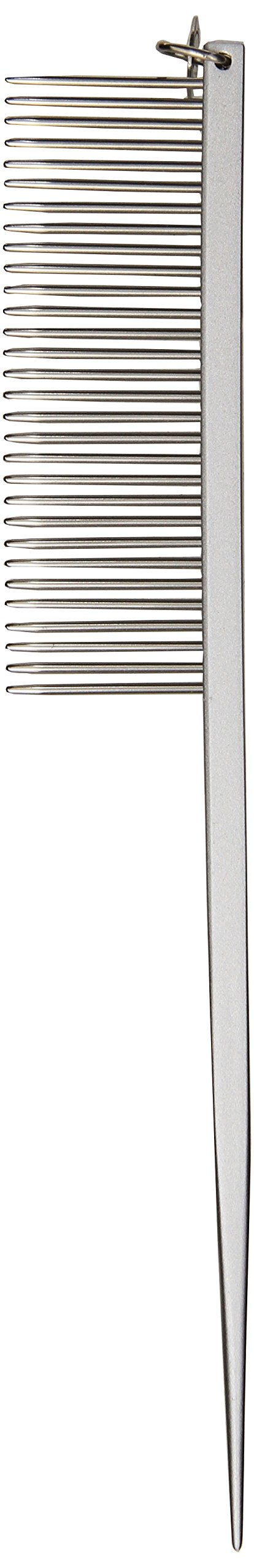 Geib, Stainless Steel Tail Comb 7 In Medium