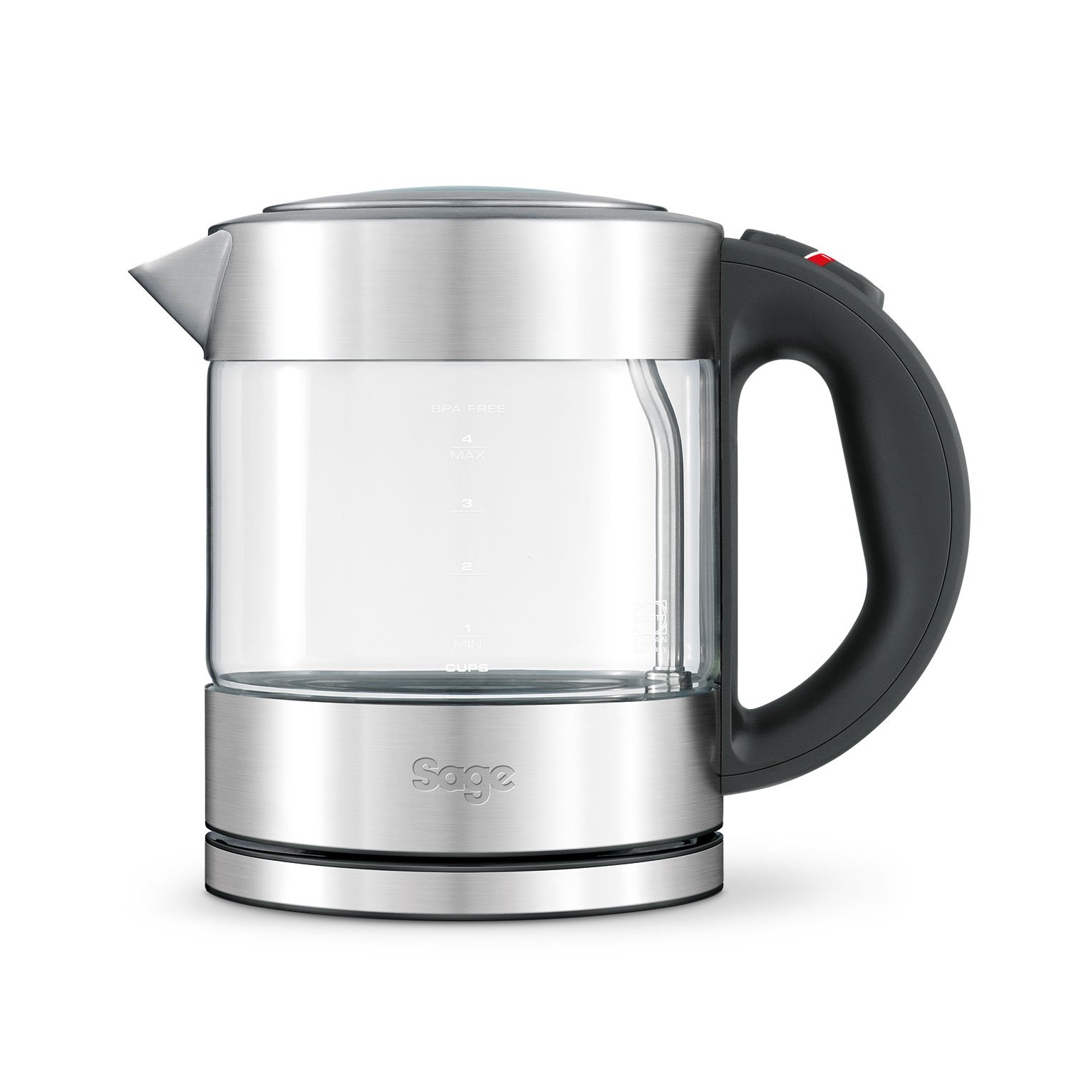 Sage BKE395UK the Compact Glass Kettle - Silver BRG Appliances