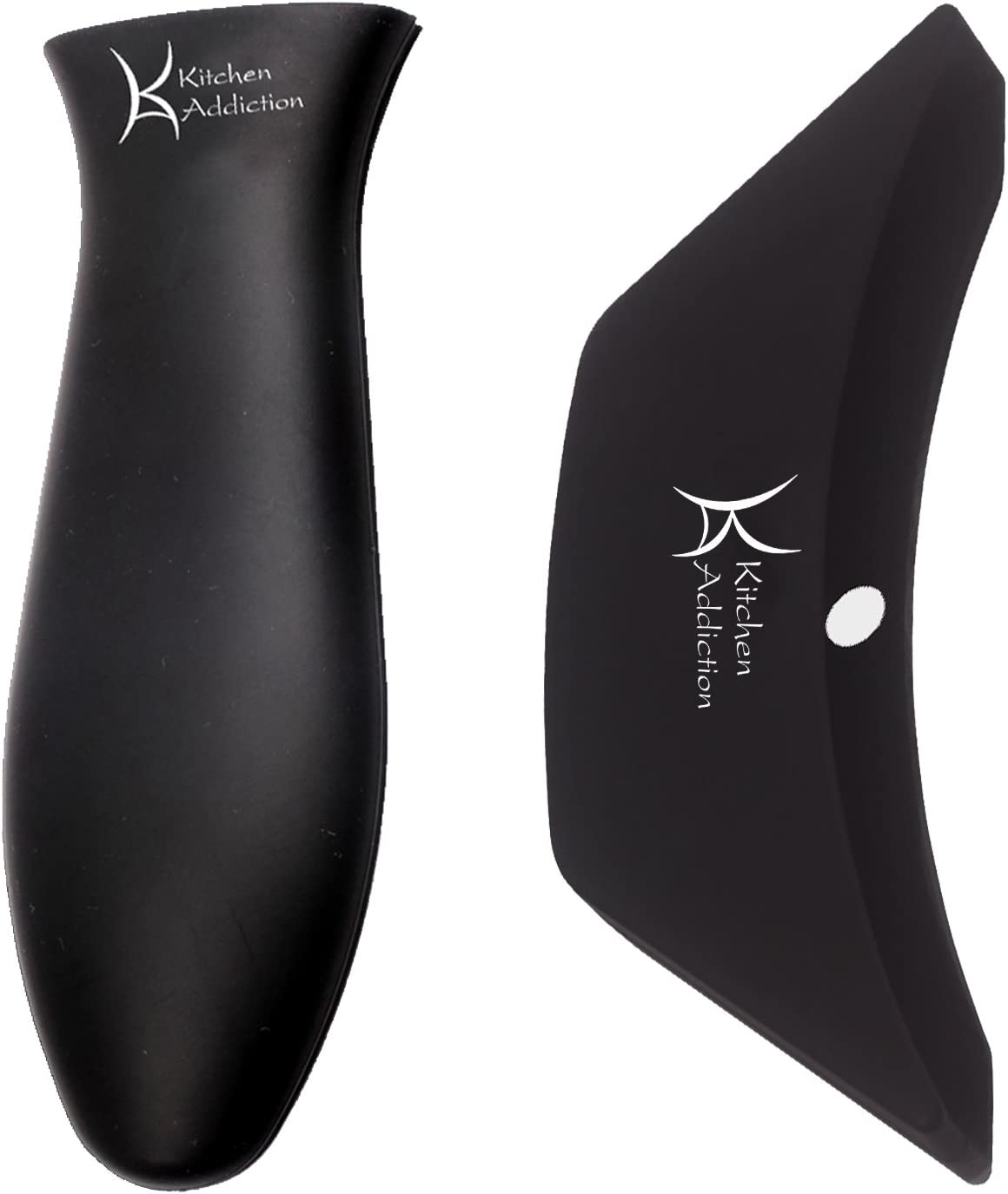 Combo Pack - Silicone Handle Holder Sleeve plus Silicone Assist Handle (Black)
