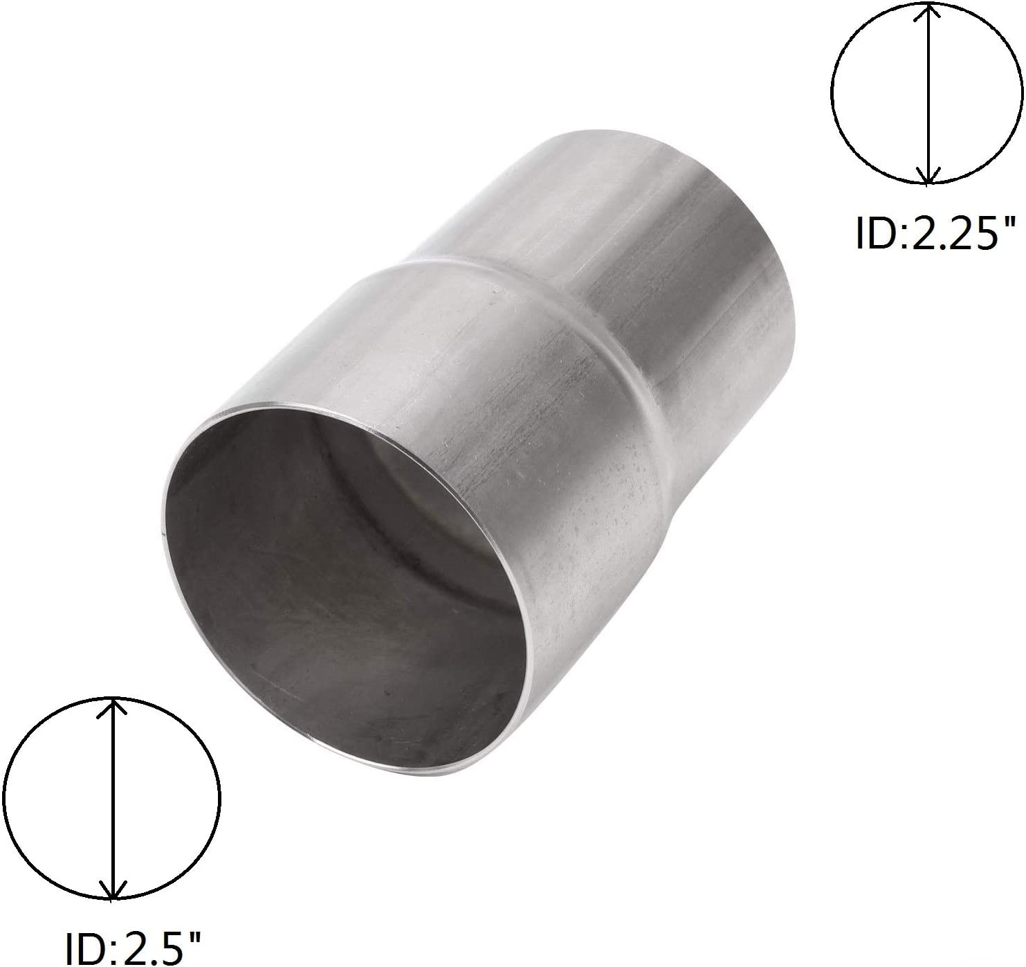"""2 1//4"""" 2.25/"""" ID to 2 3//8"""" 2.375/"""" ID Exhaust Pipe to Pipe Adapter Reducer"""