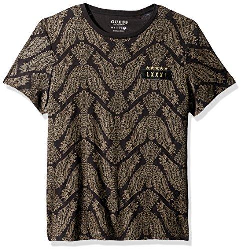 - GUESS Men's Diplo Eagle T-Shirt, Jet Black/Multi L