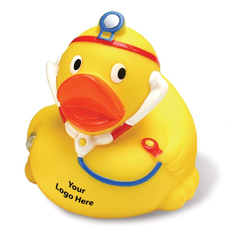 Doctor Rubber Duck - 150 Quantity - $2.75 Each - PROMOTIONAL PRODUCT / BULK / BRANDED with YOUR LOGO / CUSTOMIZED