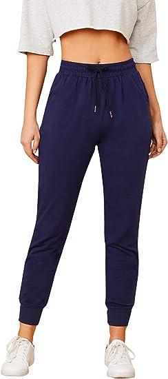 Shein Pantalones Deportivos Elasticos Para Mujer Con Cordon En La Cintura Y Bolsillo Lateral Amazon Com Mx Ropa Zapatos Y Accesorios