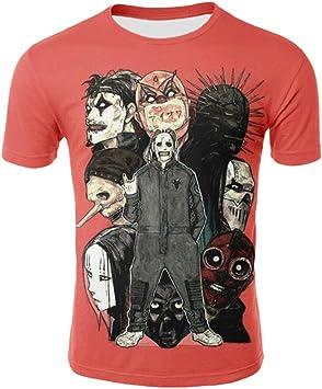 Htekgme Punk Rock Band Camisetas Hombre 3D Heavy Metal Band Impreso Camisetas Verano Hip Hop Tops Camisetas 3D Cool Ropa para Hombre: Amazon.es: Deportes y aire libre
