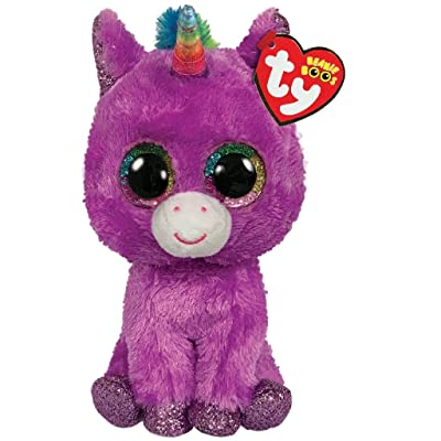 Ty- Beanie Boo's-Plush Rosette The Unicorn 15 cm, TY36328, Purple: Toys & Games