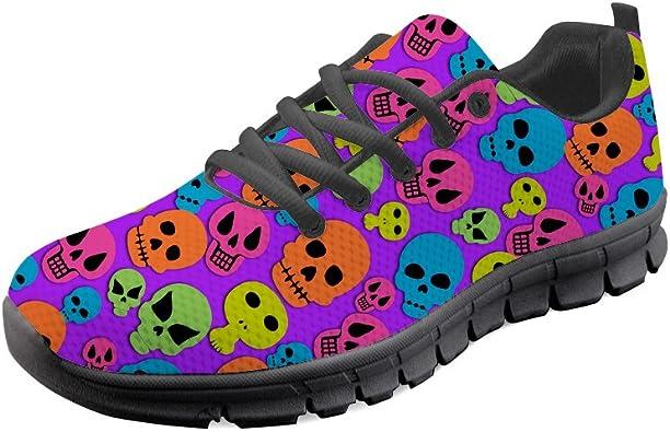 Gopumchy - Zapatillas de Running para Mujer, con cráneo Zombi ...