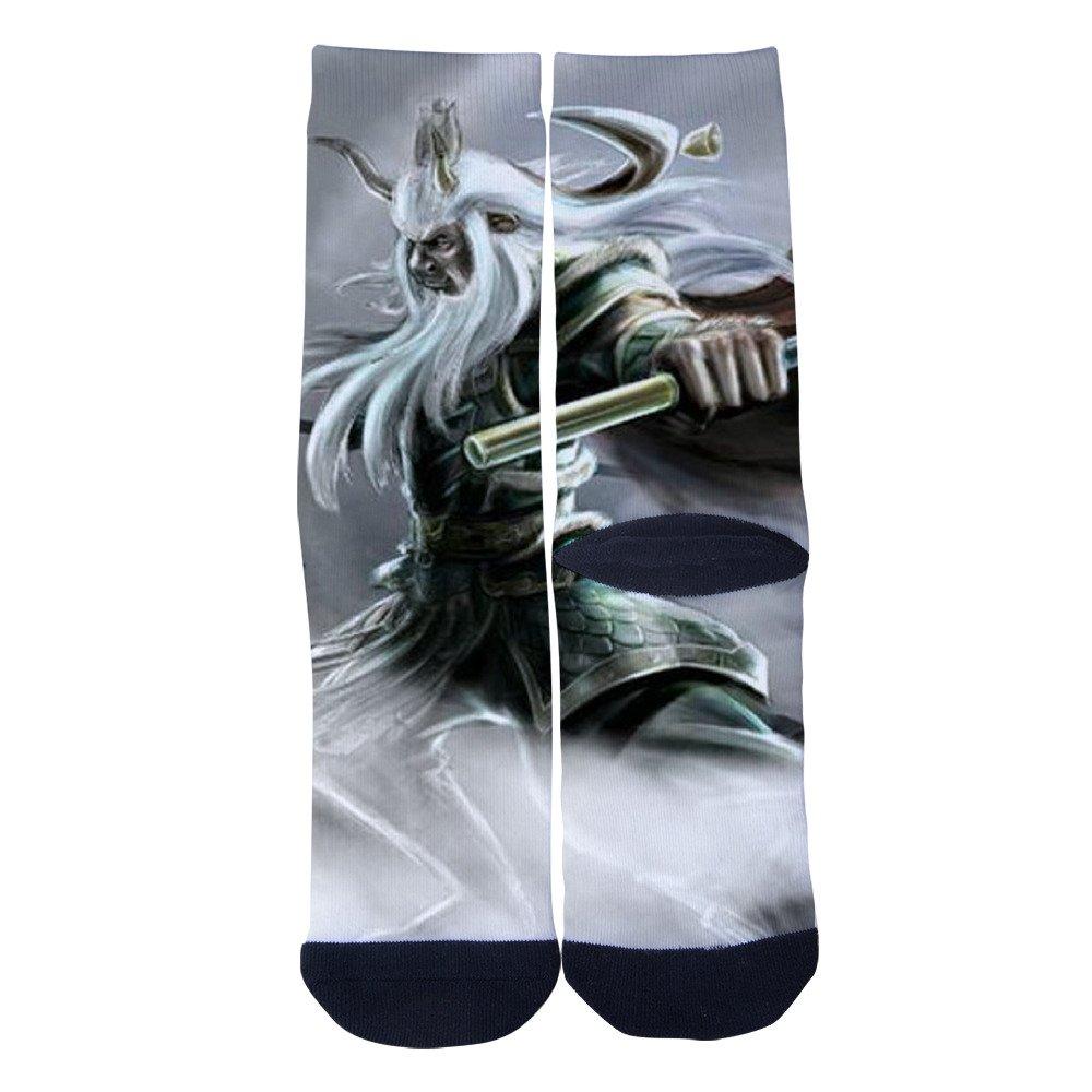 Ysdai custom Spring and winter But the king bull Socks Adult Print Crew Socks Knee High Socks