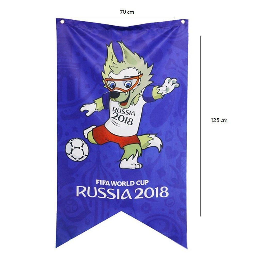 Newin Star WM Flagge, WM Banner 2018 Russland WM Fanartikel, Ideal für Fanatics, Bar, Sport Club, Restaurant, Billardraum, Supermarkt und Party Dekoration (Maskottchen)