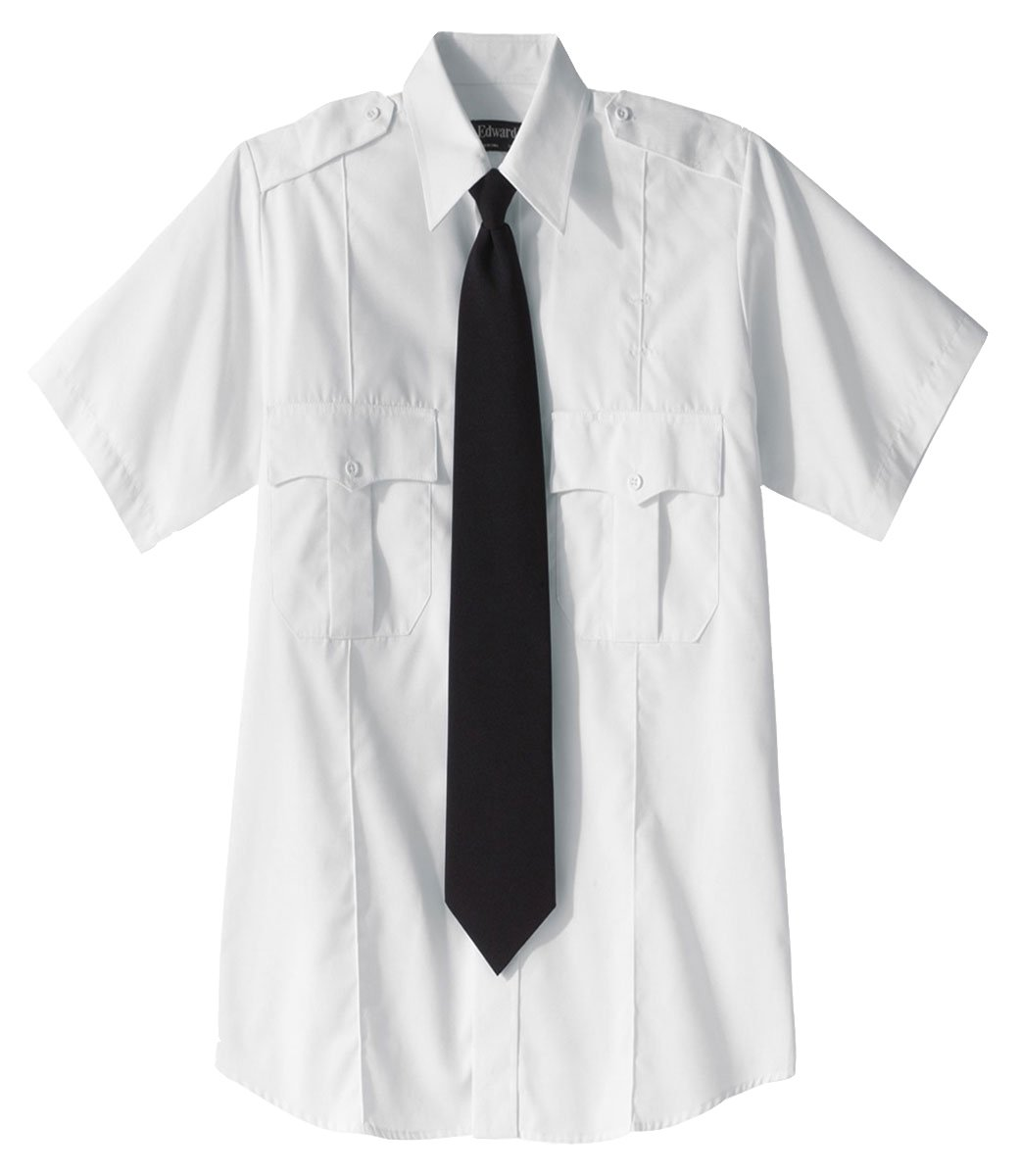 Ed Garments 1226 Security Short Sleeve Shirt Polyester/Cotton Blend - White - Medium