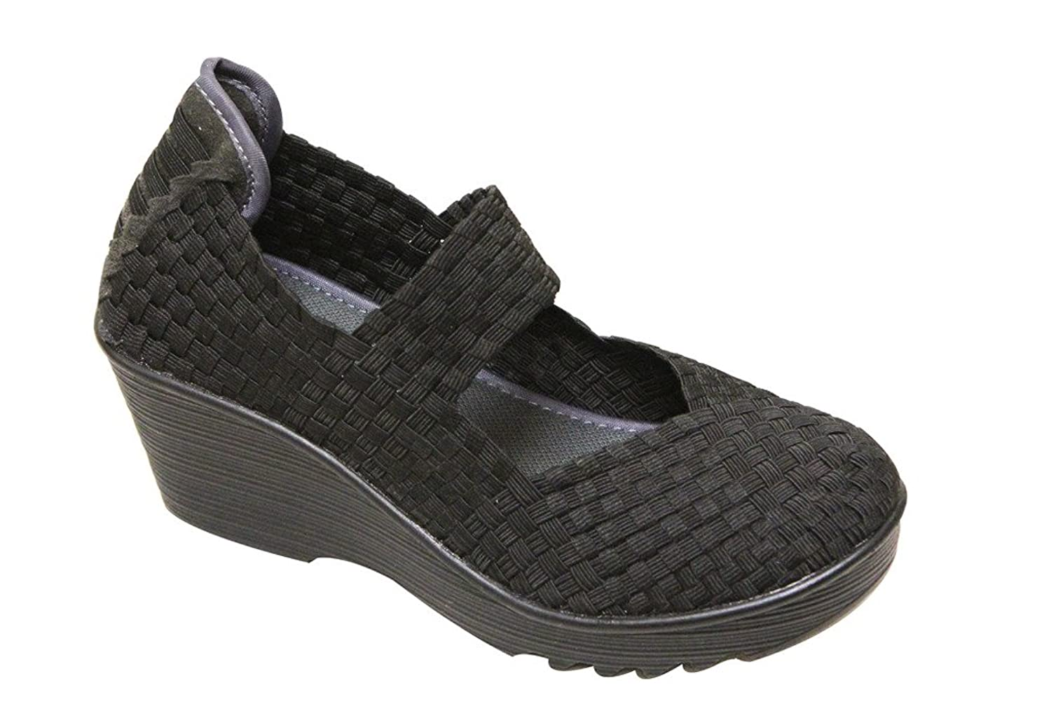ff072f6f39dc Nature Breeze Mascara-03 Women s Round Toe Woven Braid Vamp Mary Jane  Squeaky Platform Wedge Comfort Shoes