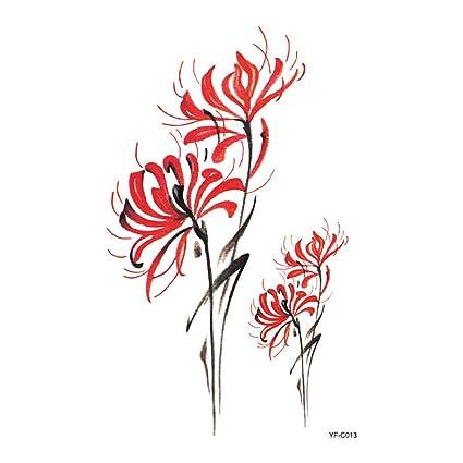 9 piezas tatuaje tatuaje pegatina Bianhua flor tatuaje pegatinas ...
