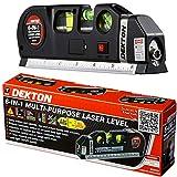 Dekton 6 in 1 Laser Level Bubble Spirit Level Tape Measure Metric Imperial Tape Ruler