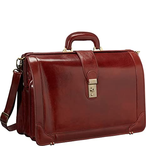 7a941c71dee8 Mancini Brown Italian Leather Lawyer doctor Briefcase  Amazon.ca ...