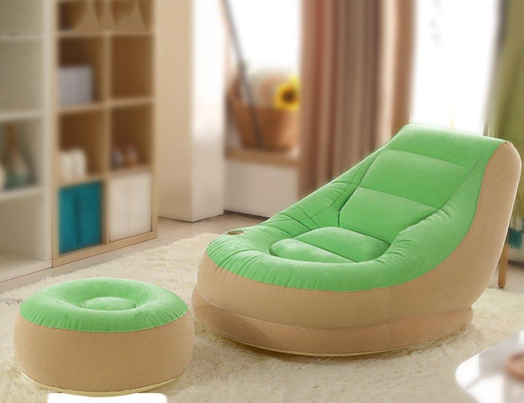 Sofa paresseux Individuelle Balcon Sieste Gonflable Petit Canapé-Lit Chambre Creative Loisirs Chaise Longue de Loir