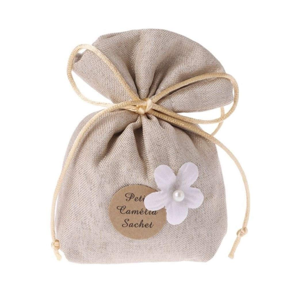 FASGION 1 Bag Sachet Linen Bag Fragrance Air Freshener Hanging Deodorizer for Car Home Room Closet Office Gardenia/Hyacinth/Glacial Pear (Color : Hyacinth) by FASGION