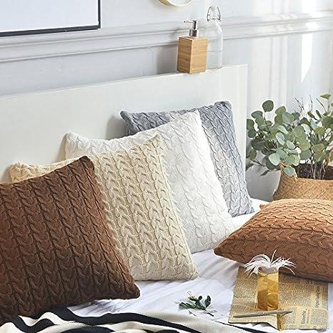 Global Brands Online Cojín de Punto 100% de algodón Cubre la ...