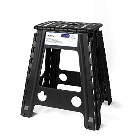 Pleasing Acko Black 18 Inches Non Slip Folding Step Stool For Kids And Adults With Handle Ocoug Best Dining Table And Chair Ideas Images Ocougorg
