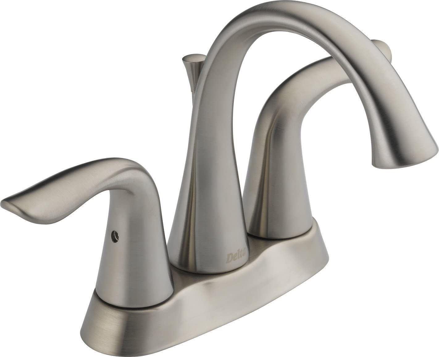 Delta 25938LF-SS Lahara Two Handle Centerset Bathroom Faucet, Stainless