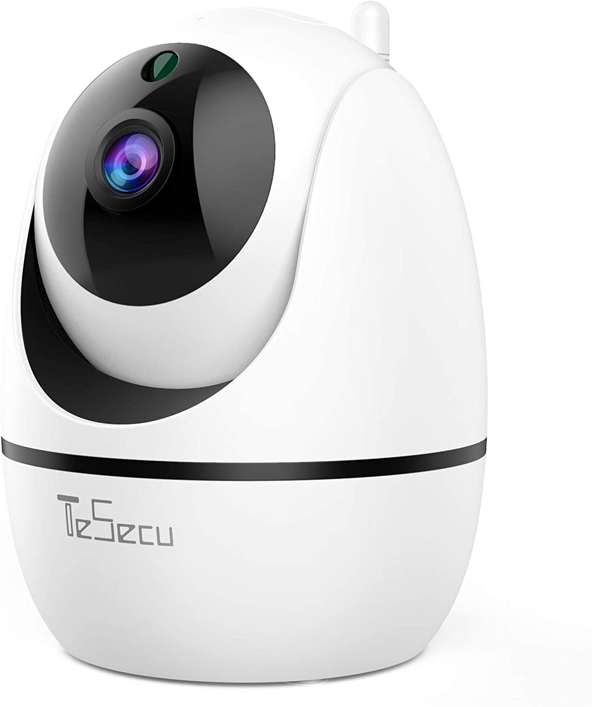 IP Caméra WiFi, Tesecu Cámara WA de Vigilanci Cámara Inalámbrica WiFi 1080P, Cámara Domo IP para Interiores, Visión Noctnurna, Detección de Movimiento