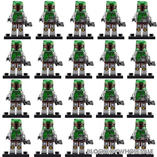 gonggamtop 20 PCs/Lot Green Boba Fett Star Wars Minifigs Building Brick Toys Kids Gift (Star Wars Dropship)
