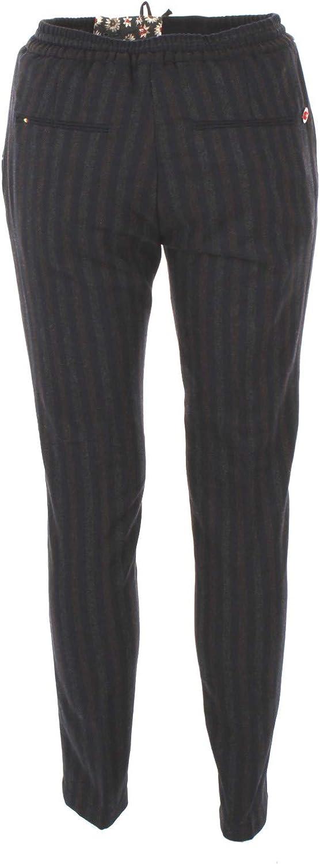 MANUEL RITZ Pantalone Uomo 52 Grigio//blu 2532p1688 183578 Autunno Inverno 2018//19