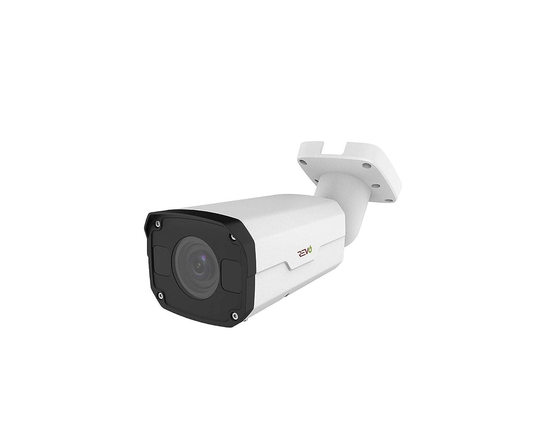 Revo America Ultra HD True 4K IP Indoor Outdoor Bullet Security Camera Motorized Varifocal Lens – 175 Night Vision, IP67 Weatherproof, True WDR