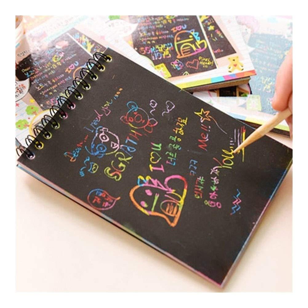 NO BRAND La Magia del Arco Iris de Papel de rasguño Notebook ...