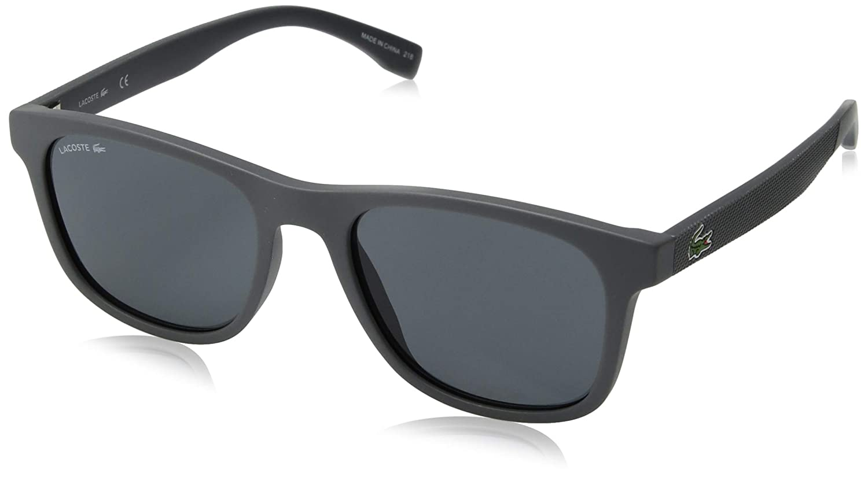 682b4d59fe Amazon.com  Lacoste Men s L884s Rectangular Sunglasses MATTE GREY 53.11 mm   Clothing