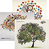 Mixed Trees Set of 3 Each Swedish Dishcloths | ECO Friendly Absorbent Cleaning Cloth | Reusable Cleaning Wipes