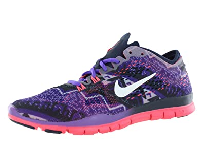 f129a516a65ea Nike Free 5.0 Tr Fit 4 Print Training Women s Shoes Size 5