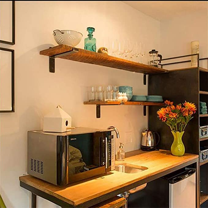 ZZZGY Soporte estanteria Pared para Servicio Pesado Estante de Metal, Soporte de Esquina de Hierro sólido, Adecuado para Sala de Estar Dormitorio baño, con Tornillos de Tubo de expansión, 2 pc: Amazon.es: