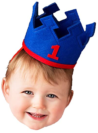 Amazon Baby Boy FIRST1 Birthday Felt Crown Hat