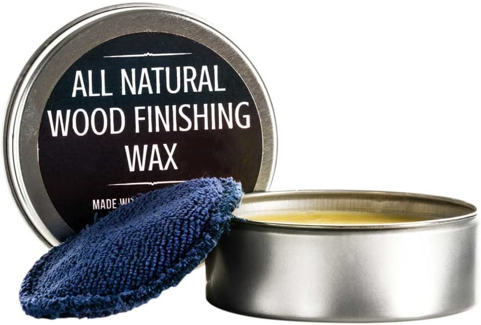 All Natural Wood Seasoning Wax Tin by Virginia Boys Kitchens - 4 Ounce Coconut Oil and Beeswax Food Safe Sealer for Cutting Board, Bowl and Houseware… (1)
