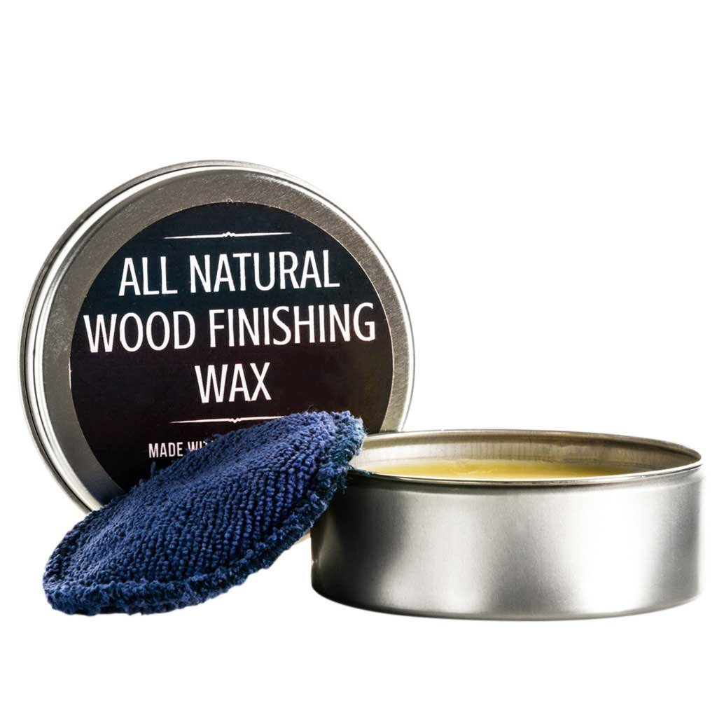 All Natural Wood Seasoning Wax Tin by Virginia Boys Kitchens - 4 Ounce Coconut Oil and Beeswax Food Safe Sealer for Cutting Board, Bowl and Houseware