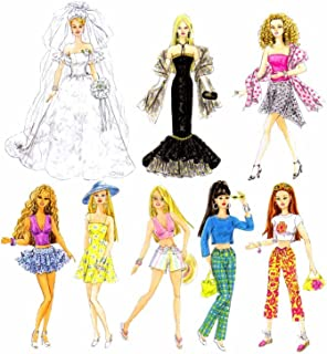 product image for Simplicity 4719 Doll Fancy Clothing Sewing Pattern for Girls by Andrea Schewe, Size 11.5''