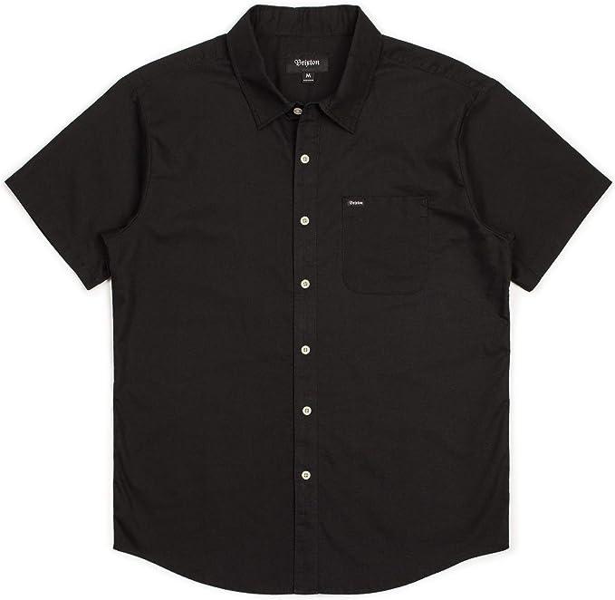BRIXTON Mens Charter Standard Fit Short Sleeve Oxford Woven Shirt