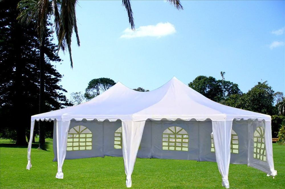 Amazon.com 22u0027x16u0027 Octagonal Wedding Party Gazebo Tent Canopy Heavy Duty Water Resistant White - By DELTA Canopies Garden u0026 Outdoor & Amazon.com: 22u0027x16u0027 Octagonal Wedding Party Gazebo Tent Canopy ...