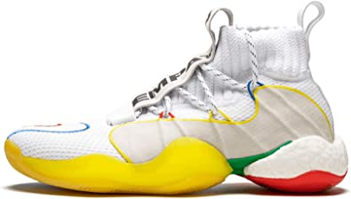 adidas Originals Pharrell Williams Crazy BYW LVL X Gratitude + Empathy Limited Edition Collaboration Fashion Sneakers (9.5 M US, FtwwhtSupcolSupcol)