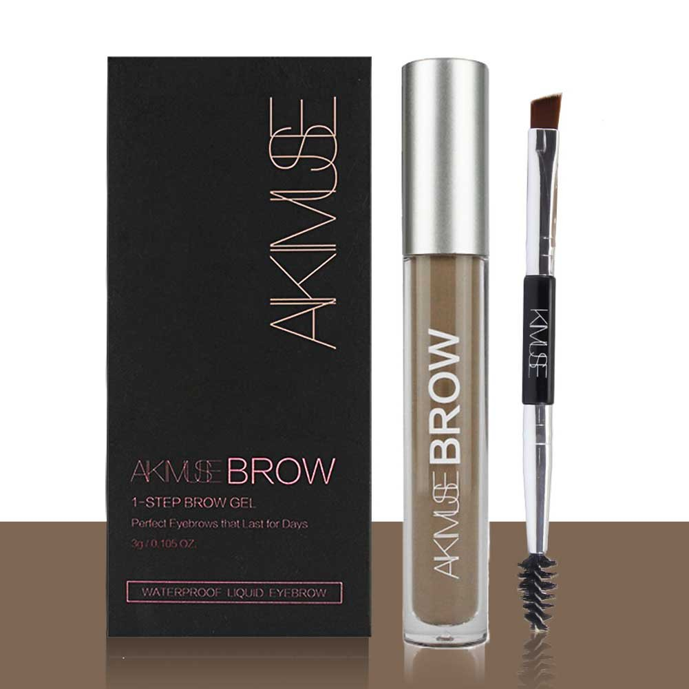 ROMANTIC BEAR Wasserfest Augenbrauen Farben Gel Mit Pinsel Set, Anti-discoloration Eyebrow Gel, DUNKELBLONDE