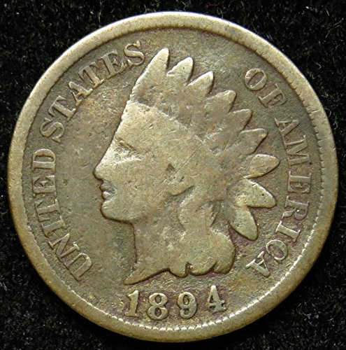 1894 U.S. Indian Head Cent/Penny G/VG