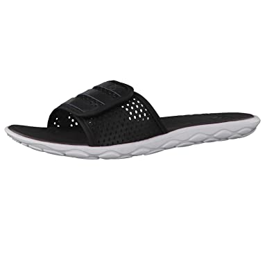 adidas Women's Borama Cloudfoam Slides (Core Black/Night Metallic/Footwear  White)