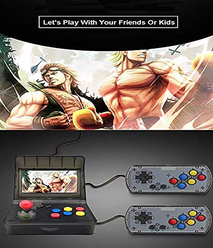 WFGZQ Consola De Juegos Portátil, Mini Consola Nostálgica 3000 Juegos Clásicos, Pantalla De 4.3 Pulgadas, Joystick Dual, Regalo De Cumpleaños para Niños: Amazon.es: Hogar