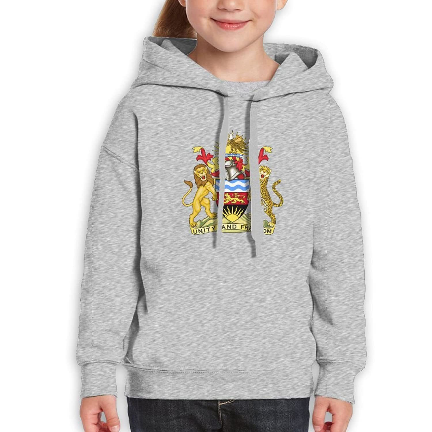 DTMN7 Coat Of Arms Of The Malawi Cool Printed Cotton Blouses For Kids Unisex Spring Autumn Winter