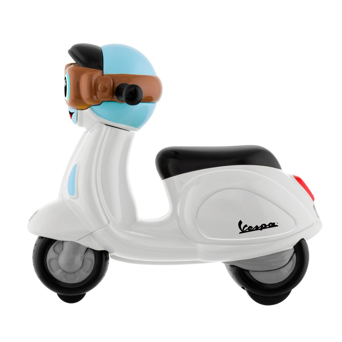 Chicco - Mini moto Vespa Turbo Touch, con carga por retroceso, color blanco: Amazon.es: Bebé